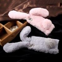 For Sony Xperia XA Case Fashion Cute Rabbit Warm Fur Soft TPU Phone Shell For Sony