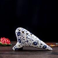 12 holes Wen Sheng alto F/AF adjustable ocarina Intonation sound good Blue and white porcelain playing ocarina