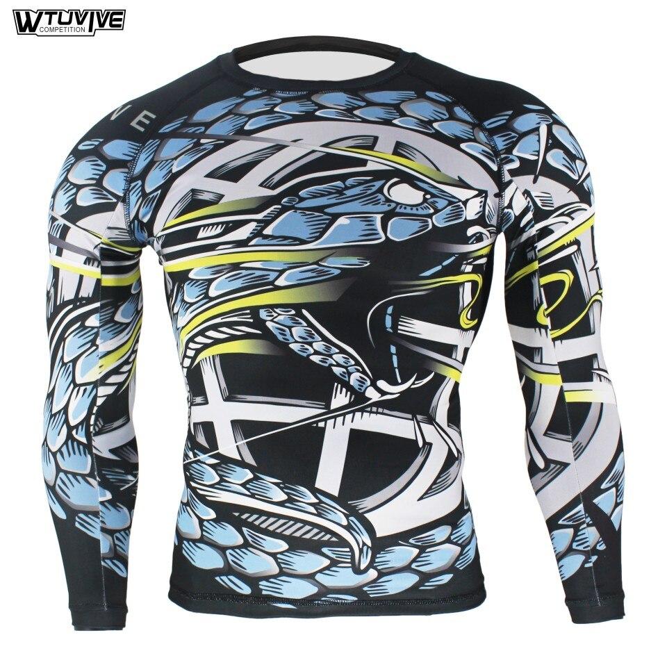 WTUVIVE Blue Viper Ferocious Tight Fitness Movement Elasticity Sweatshirt Boxing Jerseys Tiger Muay Thai Mma Boxing Suit Shorts