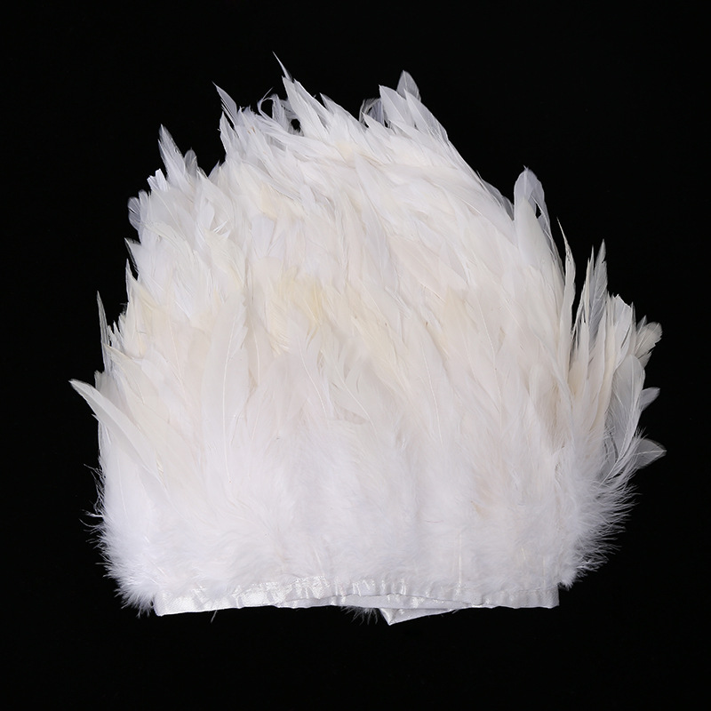 10 Meter Lot 6 Pheasant Feathers White Feather Wedding Decoration Dresses Decoration Skirt