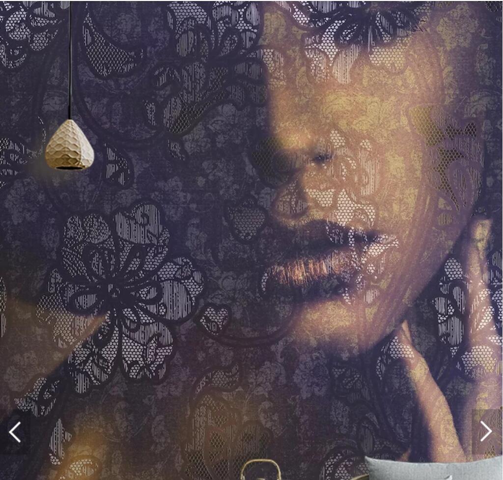 US $9 38 OFF 3D Gambar Gadis Cantik Wajah Wallpaper Mural Cetak Foto Wallpaper Untuk TV Latar Belakang Dinding Dekorasi Dinding Kustom Gulungan