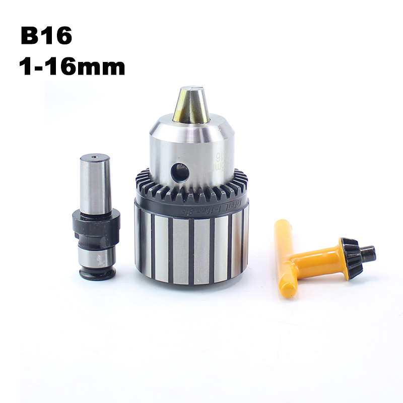 B16 1-16MM Drill Chuck Adapter Special for Pneumatic Tapping Machine GT12-B16 Drill Chuck and Tapping Collects ConnectorB16 1-16MM Drill Chuck Adapter Special for Pneumatic Tapping Machine GT12-B16 Drill Chuck and Tapping Collects Connector