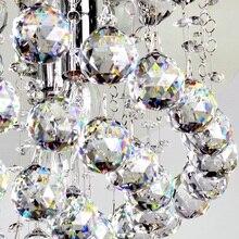 30 шт. прозрачная 20 мм хрустальная люстра висячая подвеска хрустальный шар стеклянная призма висячая подвеска с Бесплатные Крючки