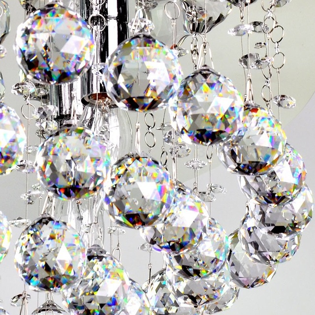 30pcs Clear 20mm Crystal Chandelier Hanging Pendant Ball Gl Prism Drop With Free Hooks