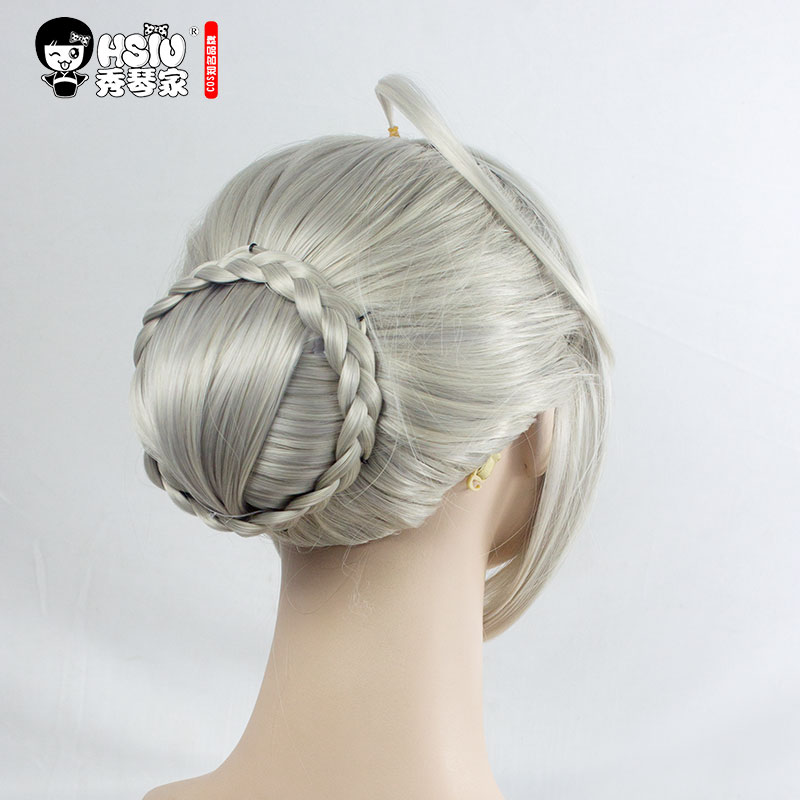 Image 5 - HSIU NEW High quality Saber Arturia Pendragon Cosplay Wig of Fate Costume Play Wigs Halloween Costumes Hair free shipping-in Anime Costumes from Novelty & Special Use