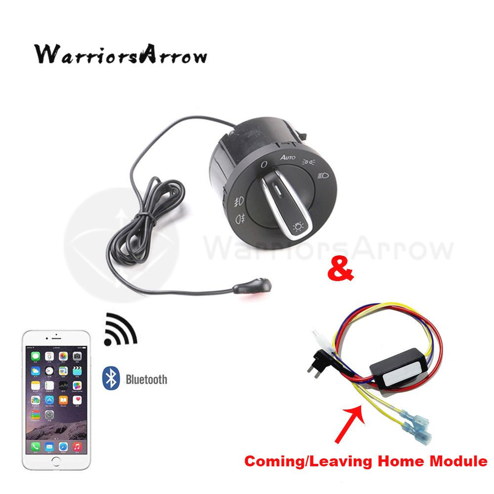 WarriorsArrow AUTO Headlight Switch Coming Leaving Home Sensor Module Set For VW Golf Jetta 5 6