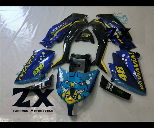 Complete Fairings For YamahTMAX 530 12 13 14 T-Max ABS Plastic Kit Injection Motorcycle Fairing Flat  Kit tmax530 The shark UVComplete Fairings For YamahTMAX 530 12 13 14 T-Max ABS Plastic Kit Injection Motorcycle Fairing Flat  Kit tmax530 The shark UV