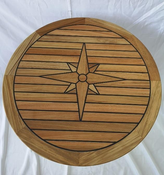 Marine Boat Motorhome Caravan Nautic Star Round Teak Table Top