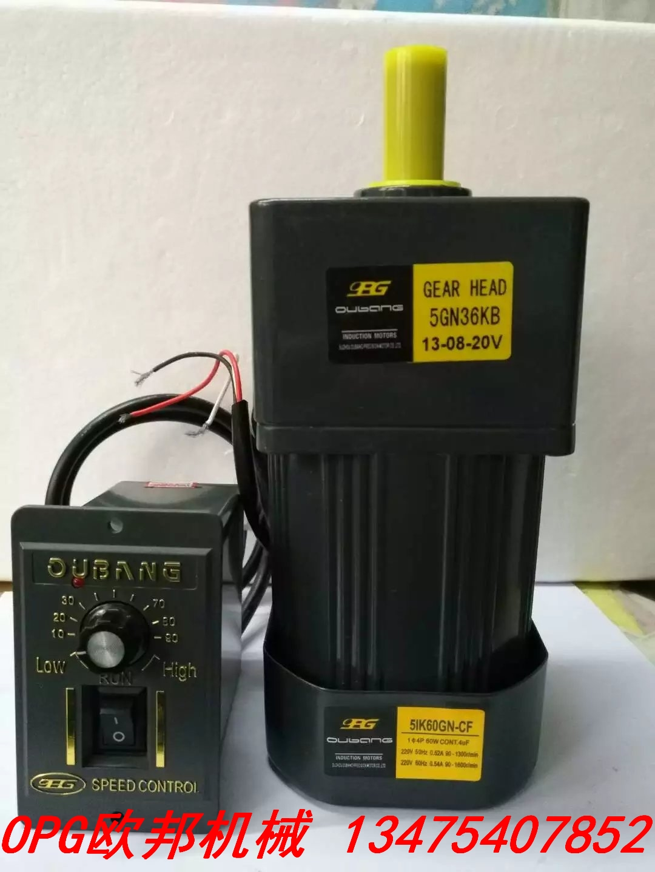 60W/220V AC Geared Motor / Speed Control Motor 5IK60RGN-CF Motor