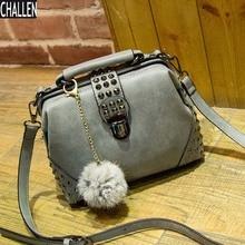 2016 Real Flap Shoulder Bags Cotton Single Rivet New Rivets Retro Matte Leather Pu Handbag Shoulder Messenger Bag Free Shipping
