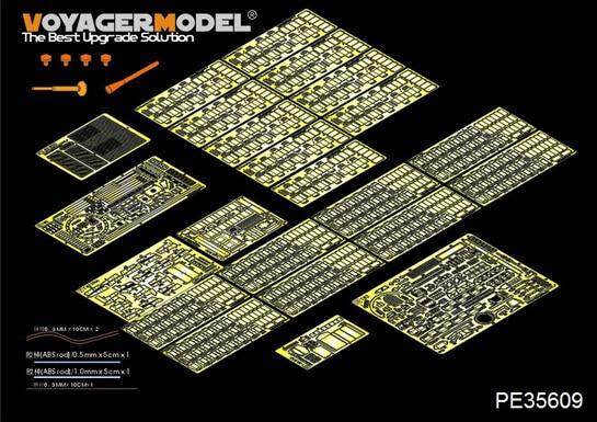 Voyager MODEL 1/35 SCALE military models#PE35609 Modern Russian T-62 ERA Medium Tank Mod.1962 Basic (TRUMPETER 01555) model kit