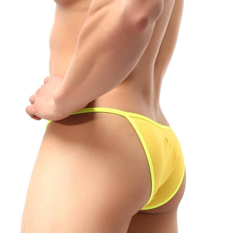 Brand 2018 Sexy Mini Men Briefs Underwear Soft Modal Men's Panties U Convex Crotch Underpants Gay Men Bikini Brief 6 Colors