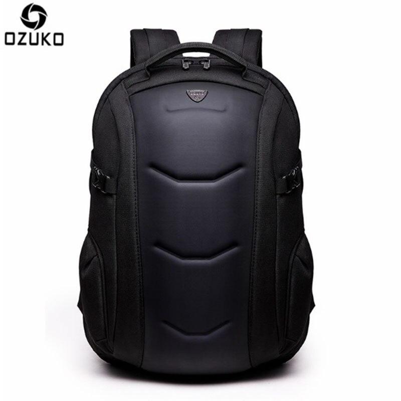 OZUKO 2017 nouveauté hommes sac à dos 15.6 pouces cahier sacs Oxford étanche Anti vol adolescents hommes étudiant Fallow sac d'école-in Sacs à dos from Baggages et sacs    1