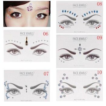 1PC Bohemia Tribal Style Acrylic Resin Drill Stick Bindi  Handpicked Face Eye Jewels Forehead Stage Decor Decoration Sticker