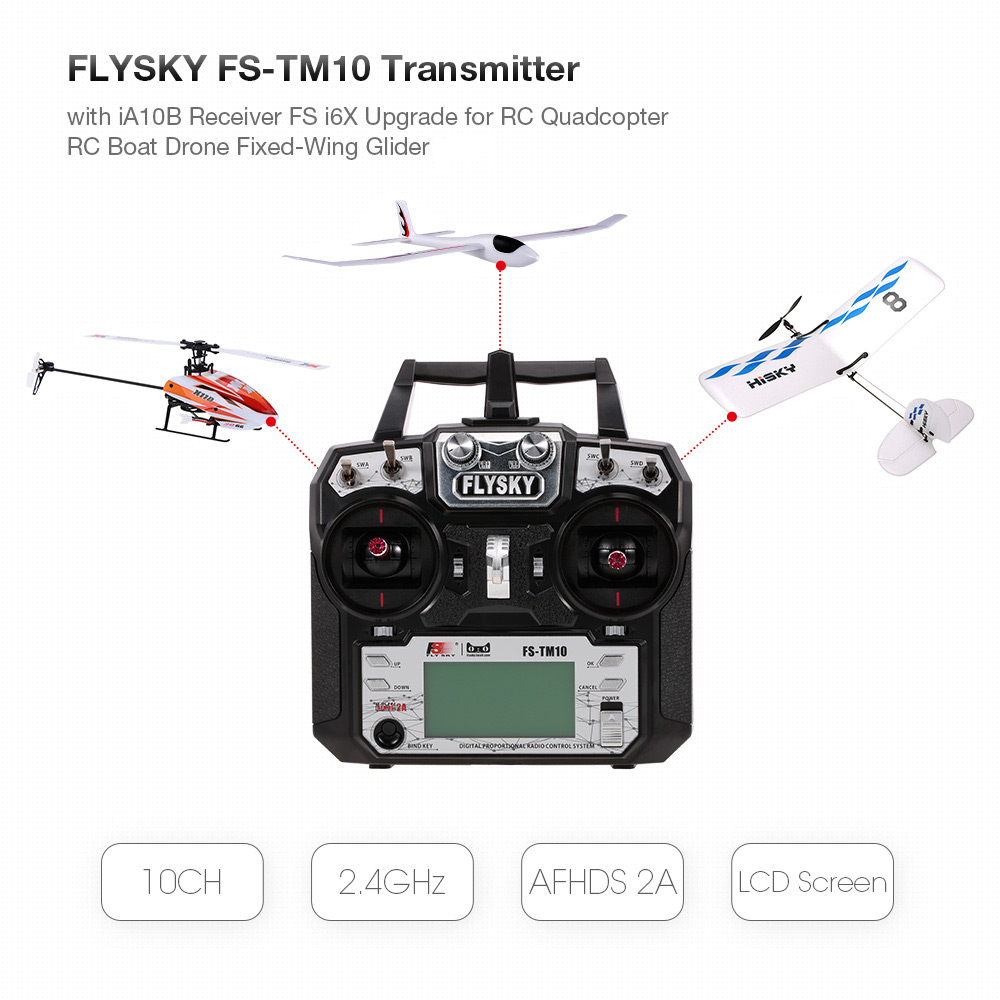 RC Drone Remote Controller Transmitter 10CH 2.4GHz AFHDS 2A iA10B Receiver FS i6X Upgrade for FPV Racing 450 RC Quadcopter обложка для паспорта printio композиция