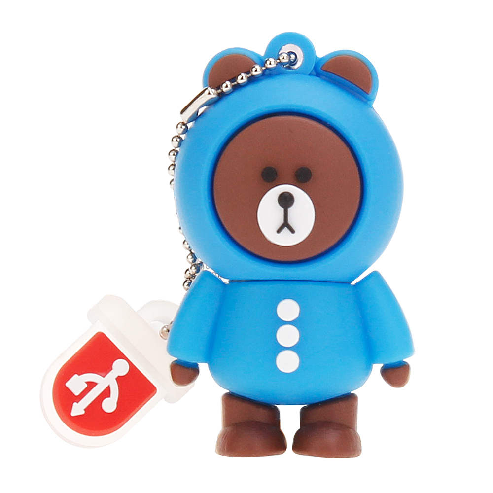 New Rilakkuma Bear pen drive 4GB 8GB 16GB 32GB 64GB 128GB usb flash drive pendrive Cartoon USB 2.0 Memory Stick Bear Brown Gifts (7)
