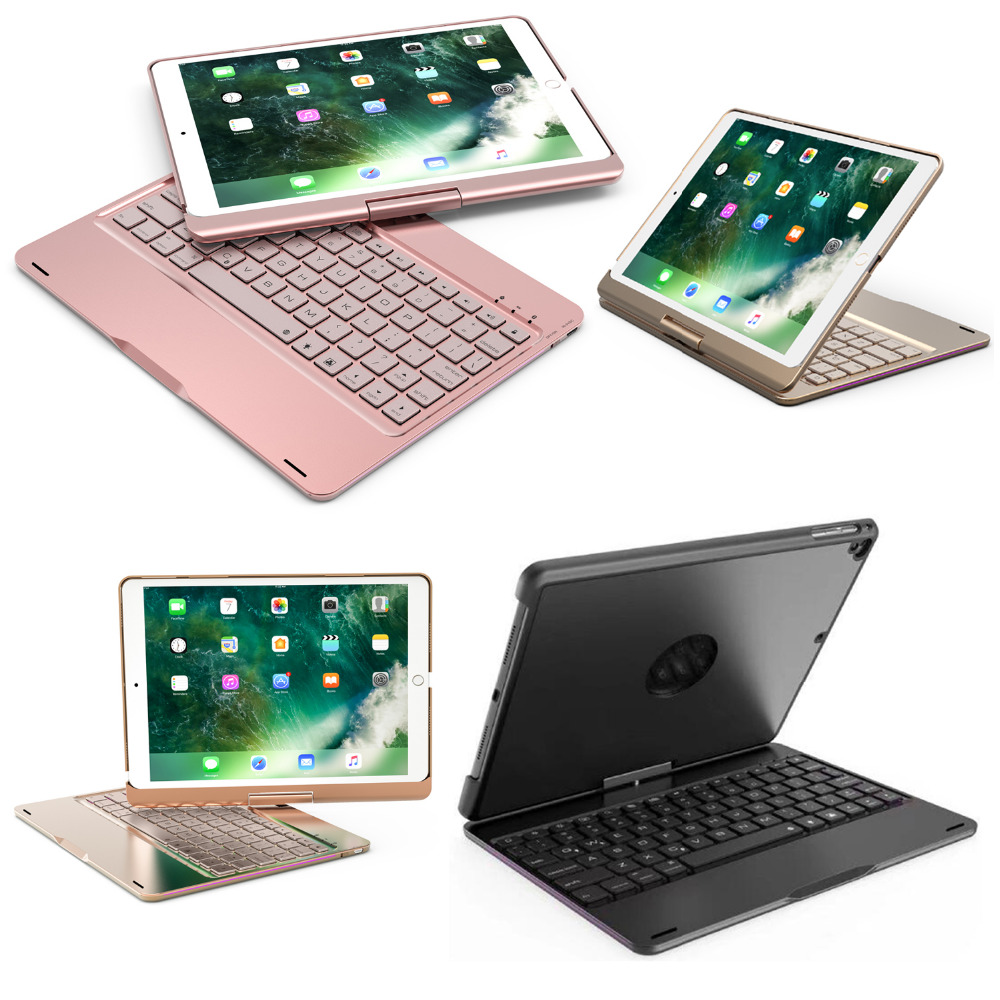 360 Degree Rotary 7 Colors Backlit Wireless Bluetooth Keyboard Fold Stand Funda Case For Apple iPad Pro 10.5 10.5 inch Tablet 360 degree rotary 7 colors backlit wireless bluetooth keyboard fold stand funda case for apple ipad pro 10 5 10 5 inch tablet