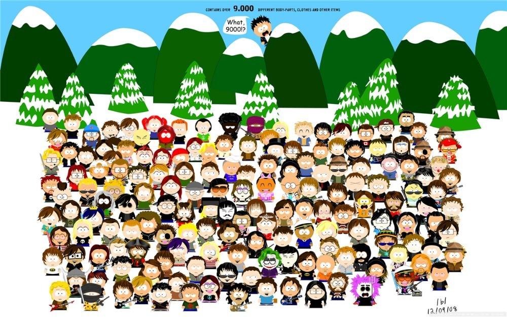 Custom South Park Poster Niza Dormitorio Decoración