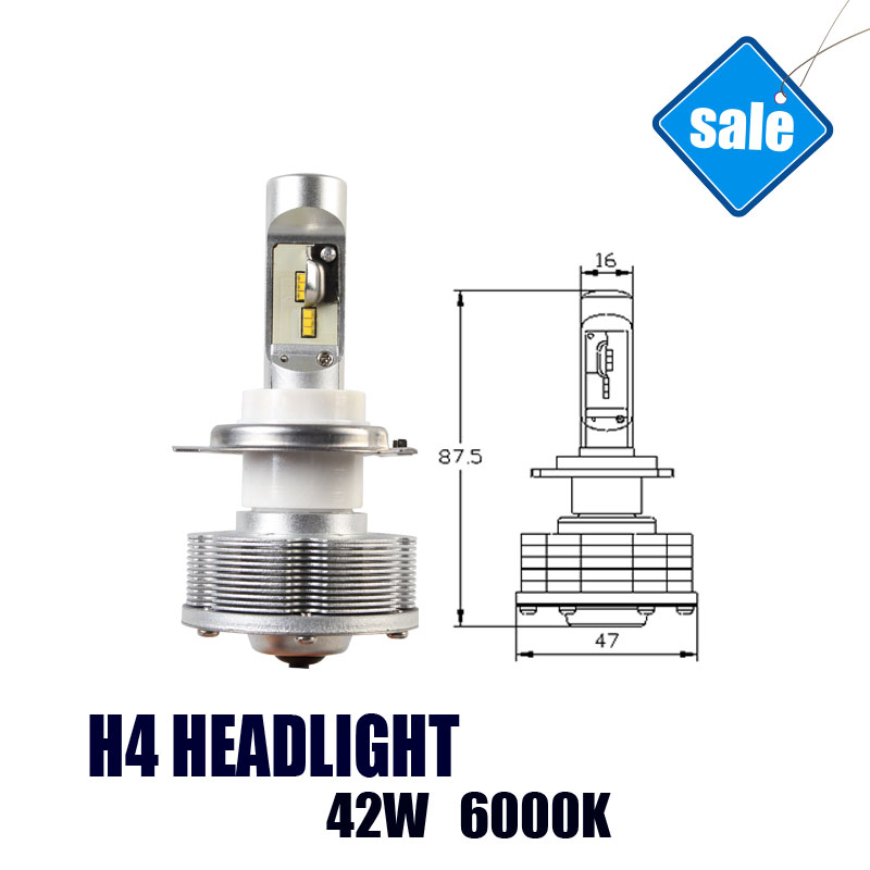 H4 LED Trucks Auto Led Headlight 42W 6000K  Easy Install h4 Headlight Car LED Lamps дефлектор auto h k gt 36964