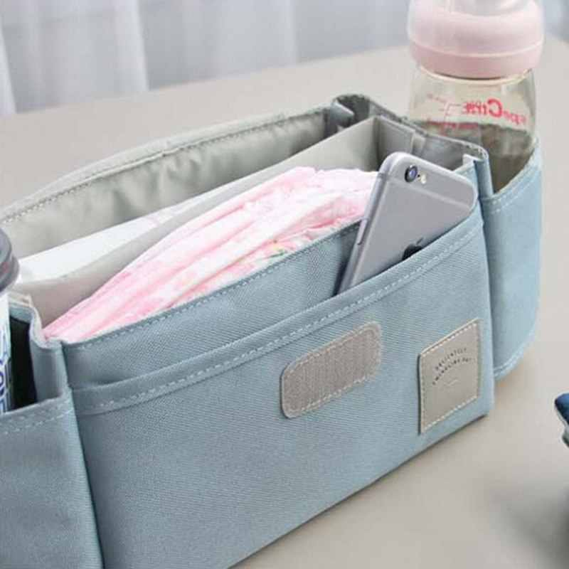 Large Capacity Trolley Mummy Accessory Bags Baby Stroller Hanging Bag Multi-function Nappy Diaper Milk Bottle Storage Bag