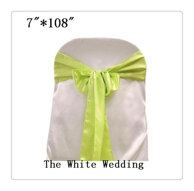 100 Wholesale Chair Bows Sage Green Chair Sash China Free Shipping 7u0027u0027 ...