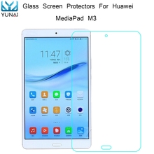 YUNAI 9H Tempered Glass for Huawei MediaPad M3 Thin HD Clear Explosion-proof New 8.4 Inch Tablet Screen Protector Guard Film