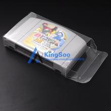 ברור שקוף משחק כרטיס מחסנית תיבת עבור Nintendo 64 N64 משחקים עגלת מגן מקרה תיבות