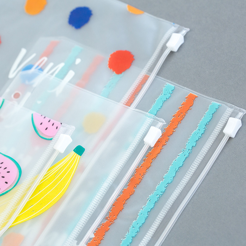 PVC Waterproof Filofax Zipper Pockets,  Spiral Loose Leaf Card Holder,  Notes Pouch Planner Accessories