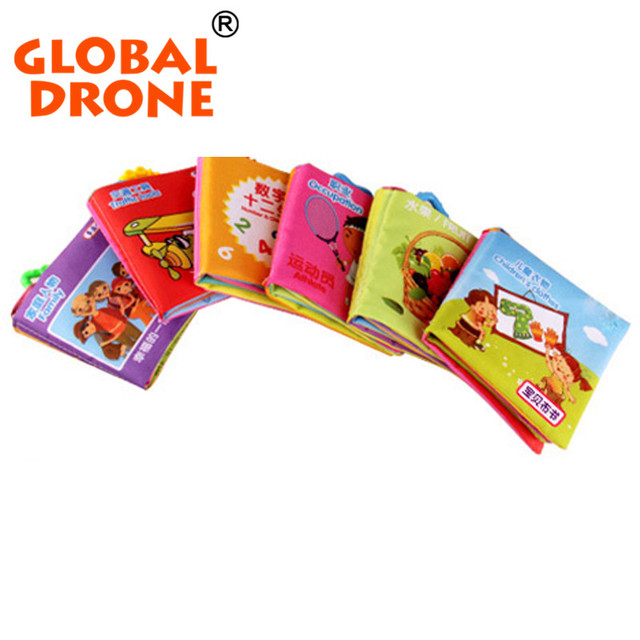 6PCS New cute cartoon infant soft handmade cloth book for babies children learning educational toy story books