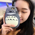 fashion 3D Cute Cartoon Totoro Cat Soft Silicon Back Cover Fundas Phone Cases For Apple iphone  6 6s 6 plus 6sPlus Lovely Coque