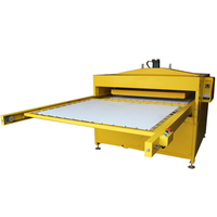 New hydraulic Auto Large size T shirt Double slide out working tables dual workbench heat press machine