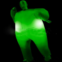 Inflatble Costume For Adult Halloween Club Sumo Suit Blow Up Full Body Costume Jumpsuit Multicolor LED