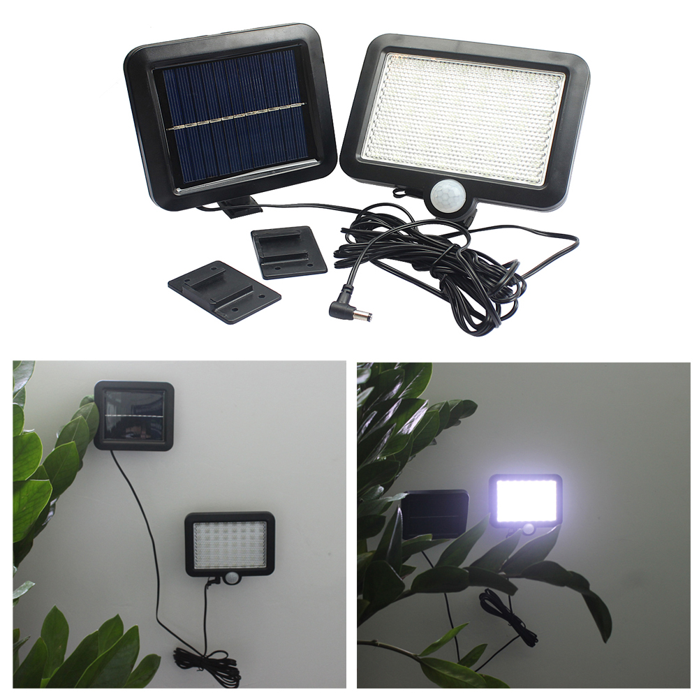 56 LED Solar Power Human Body Motion Sensor Waterproof Outdoor Garden Security Lamp Wall Lamp Light