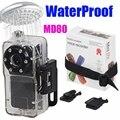 MD80 + Водонепроницаемый Корпус Мини Видеокамера Спорт Видеокамера Горячий Продавать Мини DVR Камер и Mini DV Бесплатная Доставка