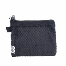 цена на Double Zipper Cosmetic Bag Nylon Bag for Mobile Phone Double Pockets Makeup Collection Bag Mesh Pocket Makeup Pouch