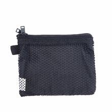 купить Double Zipper Cosmetic Bag Nylon Bag for Mobile Phone Double Pockets Makeup Collection Bag Mesh Pocket Makeup Pouch по цене 498.9 рублей