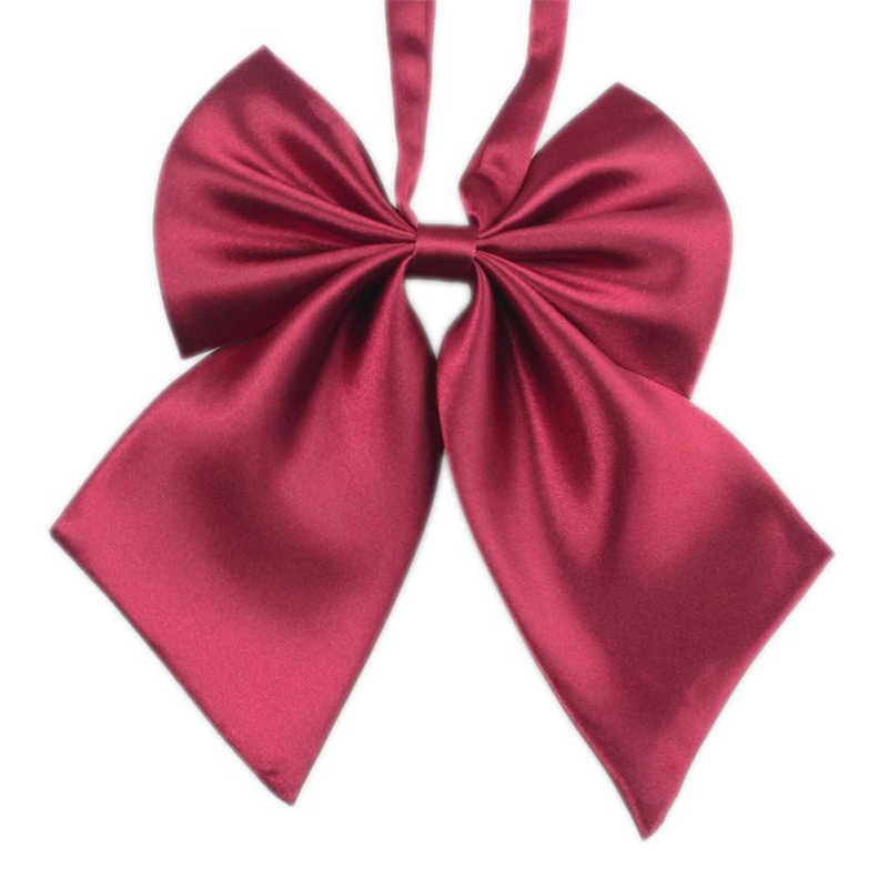 Silk bow tie Fashion Unique Womens Girls Novelty BIG Bow Tie Wedding Gift noeud papillon homme gifts for men gravata