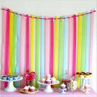 Papel de crepé arrugado de 25m, Fondo de boda, decoración de fiesta de cumpleaños para niños, rollo de papel, suministros para fiesta de Baby Shower