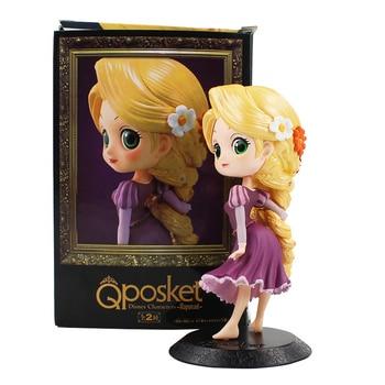 13 5cm Q Posket Tangled Rapunzel PVC Figure Model Toy Princess Doll Gift for Girls