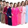 2016 Outono Inverno grosso flanela Roupões de Banho das mulheres dos homens pijama pijama homewear sleepwear masculino salões de cavalheiros