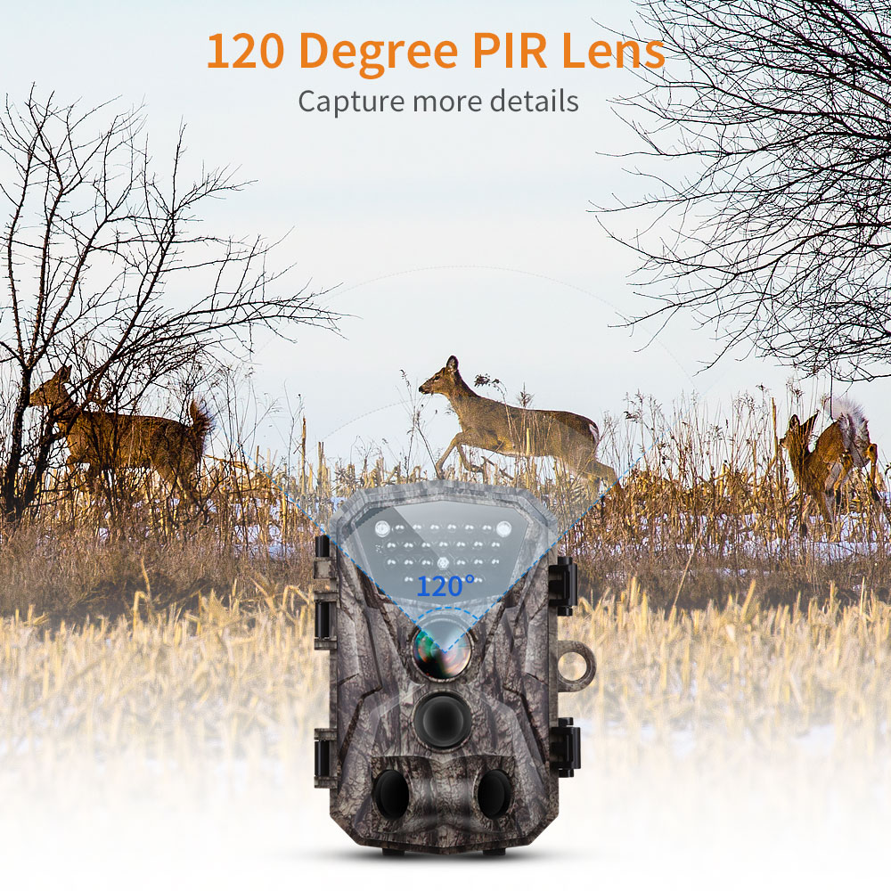BOBLOV H883 18MP 1080P 120 Degree PIR Lens Hunting Trail Camera 24 Infrared LEDs Scouting Wildlife Night Vision Cameras in Hunting Cameras from Sports Entertainment