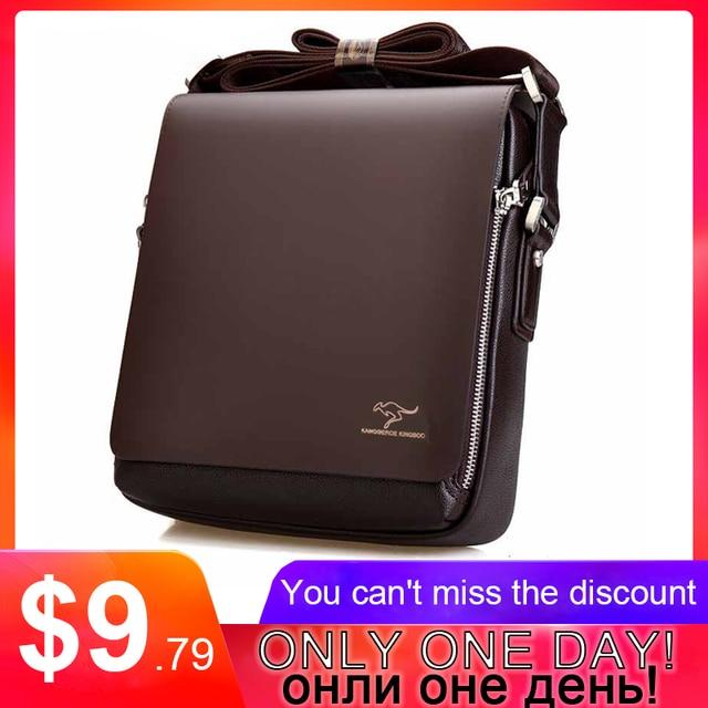 807281da19 2017 New Messenger Bag Men Big Promotion Kangaroo Brand Man Bag Men s Bags  Men Messenger Casual Shoulder Briefcase