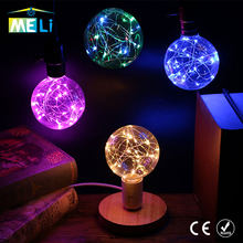 Colourful 3D Star Led Lamp G95 Fairy Led Bulb E27 AC85V-265V Edison Bulb String Retro Glass For Christmas Lampara Ampoule(China)