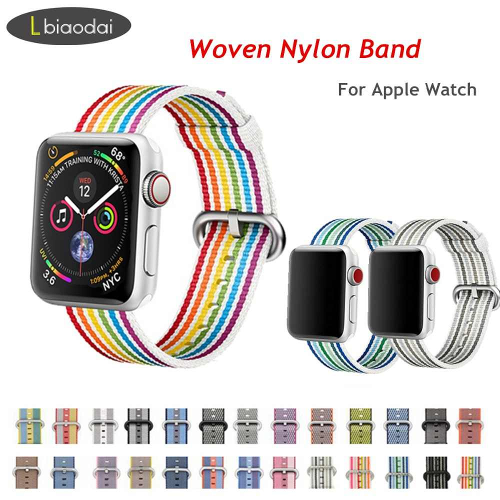 Nylon strap for apple watch band 4 44mm 40mm iwatch band 42mm 38mm bracelet Fabric-feel watchband 4/3/2/1