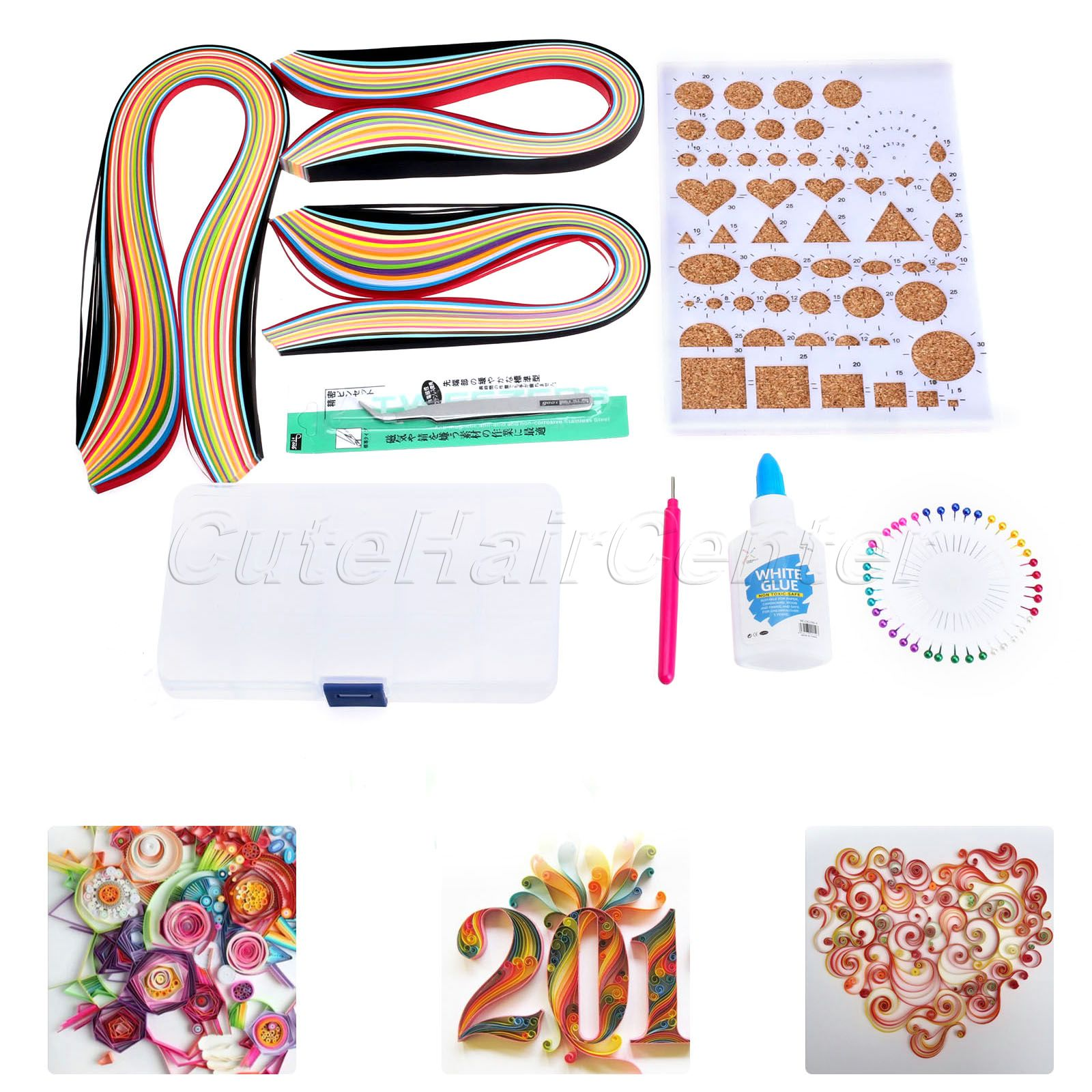 High quality 600 strips paper quilling 5mm width mixed for Quality craft tool box