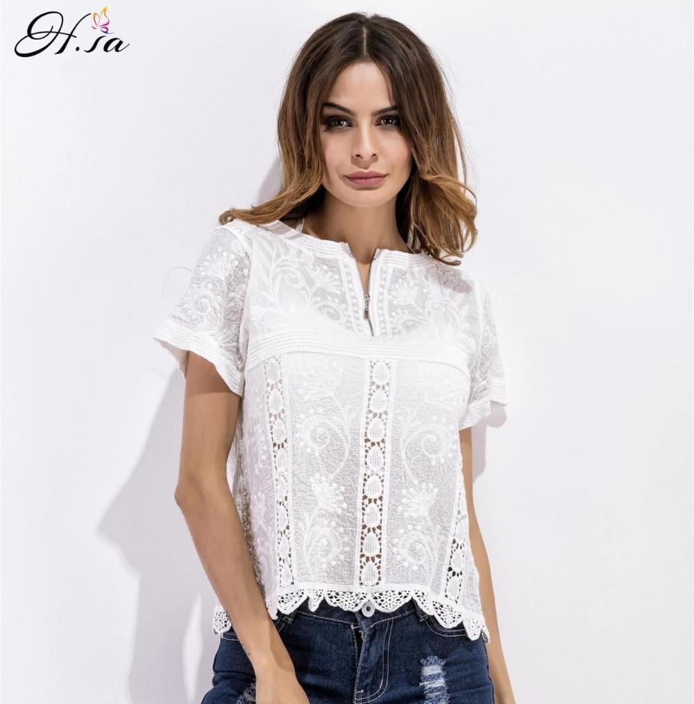 H. sa las mujeres camisa de la blusa de estilo suelto tapas atractivas para las