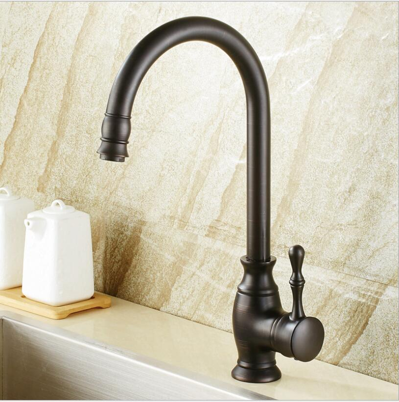 New Arrival hot and cold single lever hot and cold kitchen faucet Swivel Black Oil Brushed Kitchen mixer Water tap sink faucet new arrival tall bathroom sink faucet mixer cold and hot kitchen tap single hole water tap kitchen faucet torneira cozinha