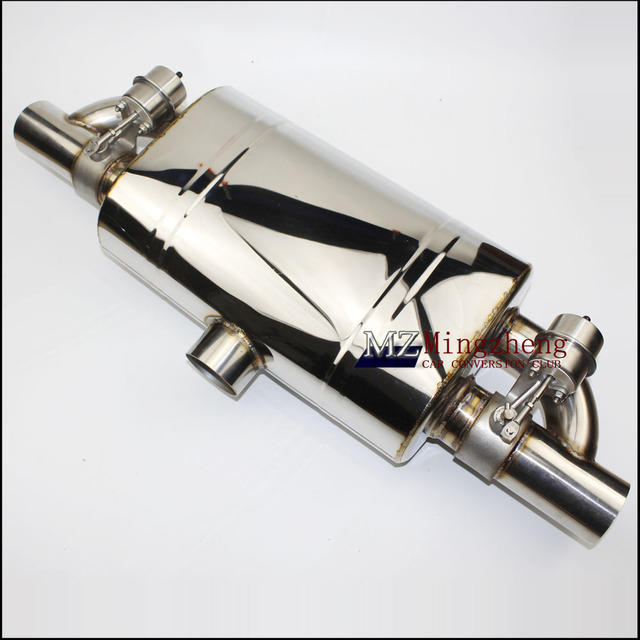 """2.5"""" Exhaust System Stainless Steel T Pipe Electric Exhaust CutOut  Out Valve With Electronic Remote Control Switch exhaust pipe"""