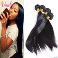8A Grado Remy Virginal Sin Procesar Del Pelo Humano Remy Hair Bundles Brasileño de la Virgen Cabello Liso Pelo Brasileño Recto 5 Bundles