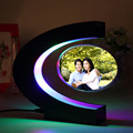 Freeshipping classic&fashionable gift C-shaped magnetic levitation frame with led lamps light-up